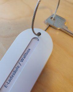 Schlüssel für Elektro Ladesäule